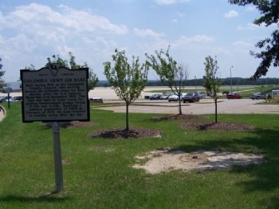Columbia Army Air Base Marker at Todays Columbia Metro Airport image. Click for full size.