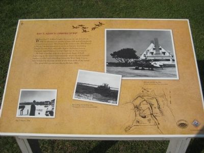 Ray T. Adam's Landing Strip Marker image. Click for full size.
