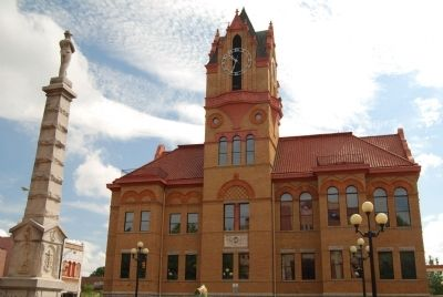 Second Anderson County Courthouse -<br>West (Front) Facade image. Click for full size.