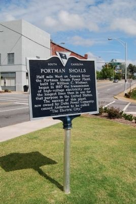 Portman Shoals Marker image. Click for full size.