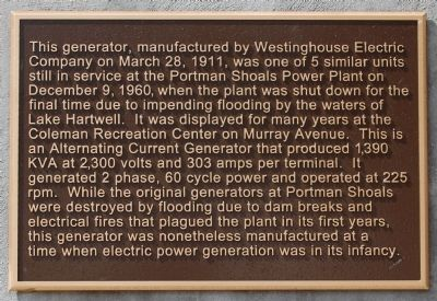 Portman Dam and Power Plant Marker - Reverse, Left image. Click for full size.