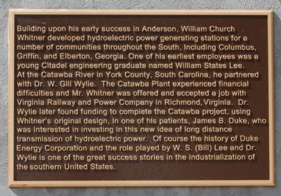 Portman Dam and Power Plant Marker - Reverse, Right image. Click for full size.