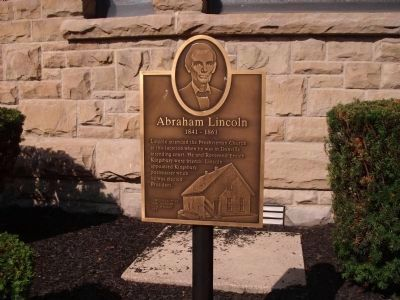 Abraham Lincoln at Danville Presbyterian Church Marker image. Click for full size.