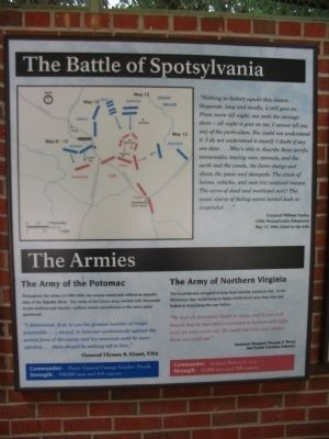 The Battle of Spotsylvania Marker image. Click for full size.