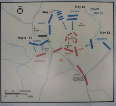 The Battle of Spotsylvania Map image. Click for full size.