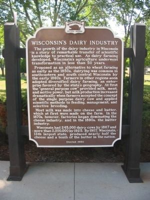 Wisconsin's Dairy Industry Marker image. Click for full size.