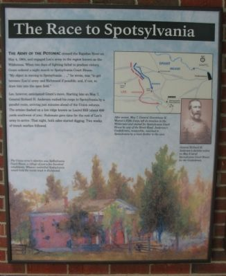 The Race to Spotsylvania Panel image. Click for full size.