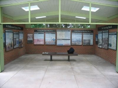 The Spotsylvania Exhibit Shelter image. Click for full size.
