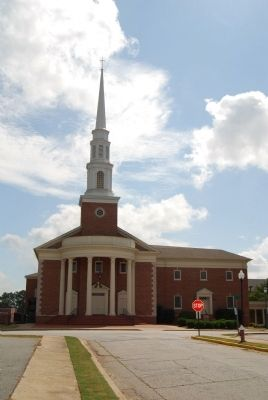 First Baptist Church<br>East from Church Street image. Click for full size.