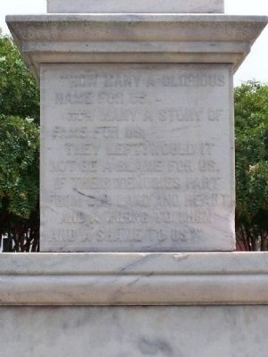 Statesboro Confederate Monument west face image. Click for full size.