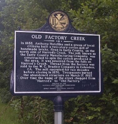 Old Factory Creek Marker image. Click for full size.