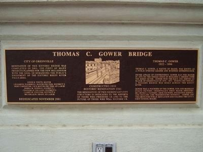 Thomas C. Gower Bridge Marker image. Click for full size.