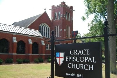 Grace Episcopal Church and Sign image. Click for full size.