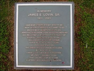 In memory of James E. Lovin, Sr. image. Click for full size.