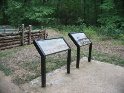 Grant's May 18th Attack and Civil War Earthworks Markers image. Click for full size.