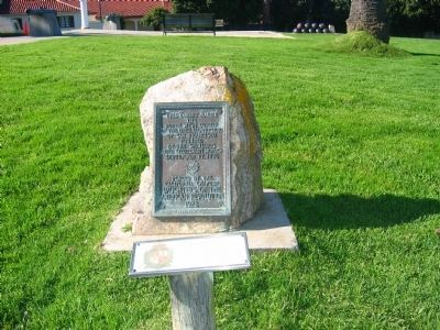 Marker on The Grounds of the Presidio image. Click for full size.