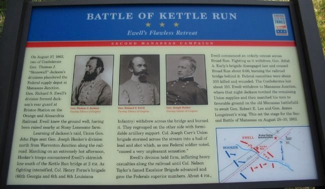 Battle of Kettle Run Marker image. Click for full size.