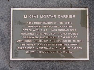 M106A1 Mortar Carrier Marker image. Click for full size.