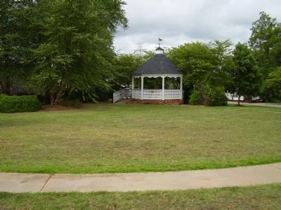Gazebo near the District Five War Memorial Marker image. Click for full size.