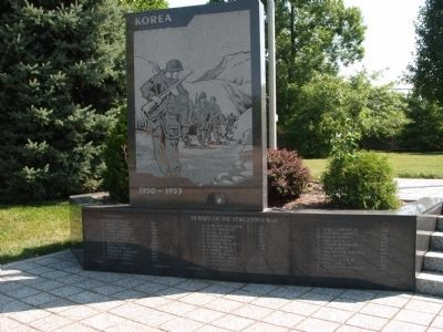 Korean Section of Memorial image. Click for full size.