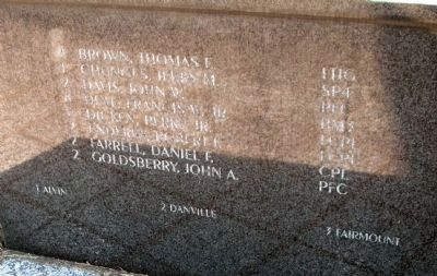 Vietnam Memorial - - Left Panel of Names image. Click for full size.