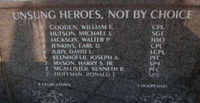 Vietnam Memorial - - Middle Panel of Names image. Click for full size.