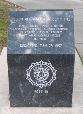 Belton Veteran Park Committee image. Click for full size.