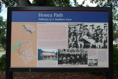 Honea Path Marker - Reverse image. Click for full size.