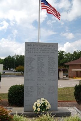 Honea Path Veterans Memorial Marker image. Click for full size.
