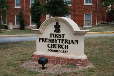 First Presbyterian Church Sign image. Click for full size.