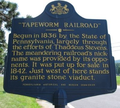 Tapeworm Railroad Marker image. Click for full size.