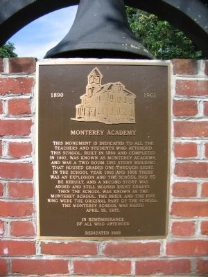 Monterey Academy Monument image. Click for full size.