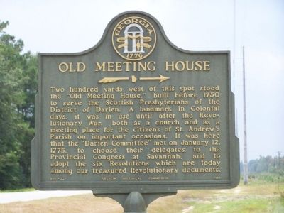 Old Meeting House Marker image. Click for full size.
