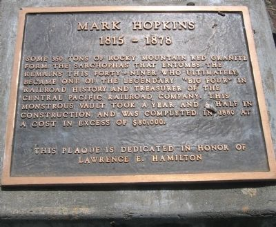 Mark Hopkins Marker image. Click for full size.