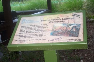 The Shenandoah Lumber Company Marker image. Click for full size.