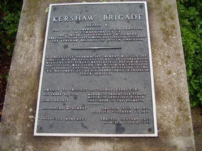 Kershaw Brigade Marker image. Click for full size.