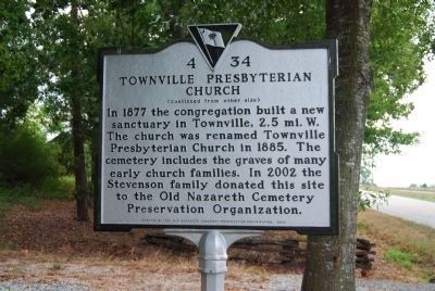 Townville Presbyterian Church Marker image. Click for full size.