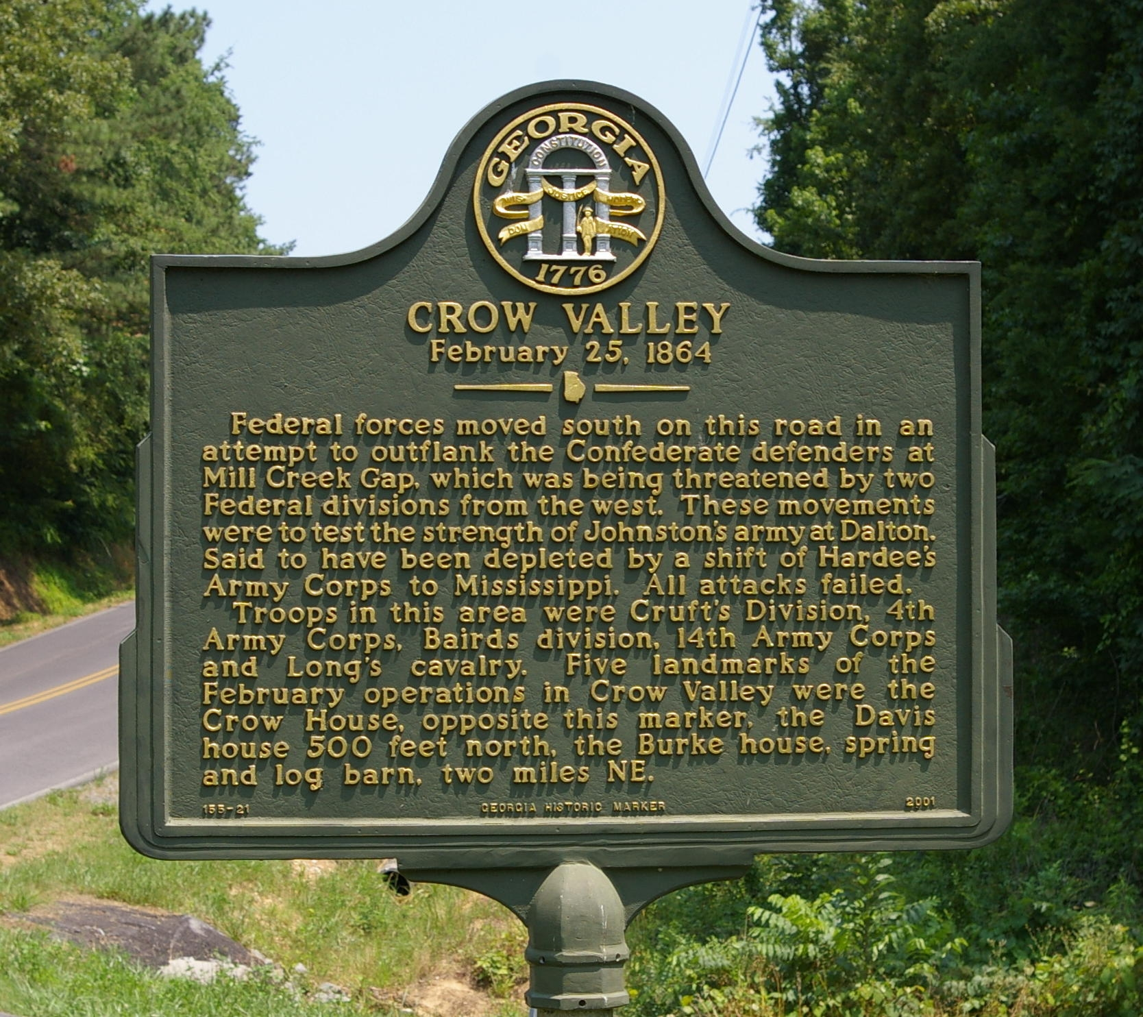 Crow Valley Marker