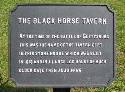 The Black Horse Tavern Marker image. Click for full size.