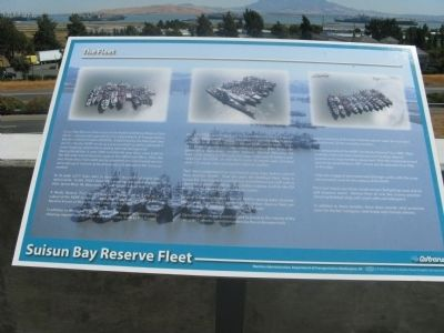 Suisun Bay Reserve Fleet Marker image. Click for full size.