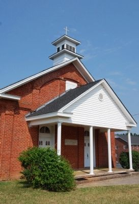 Big Creek Baptist Church -<br>Portico image. Click for full size.