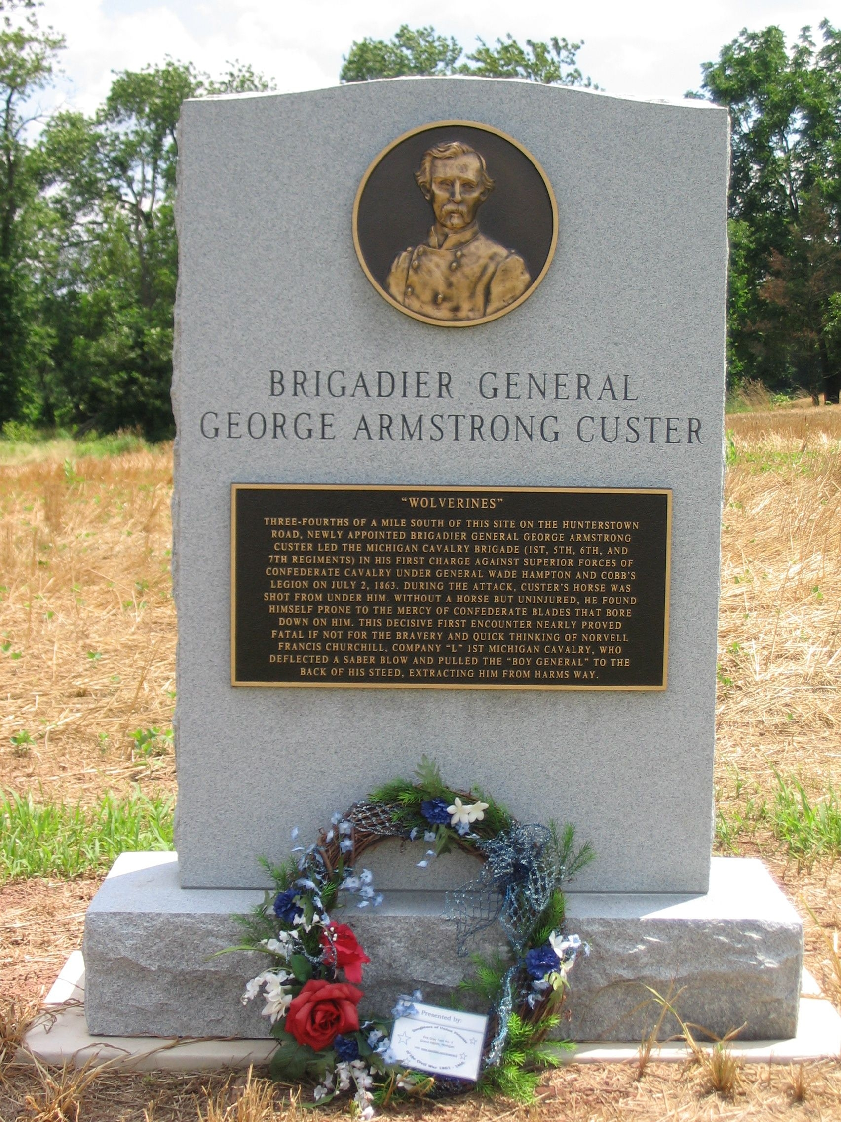 Brigadier General George Armstrong Custer Monument