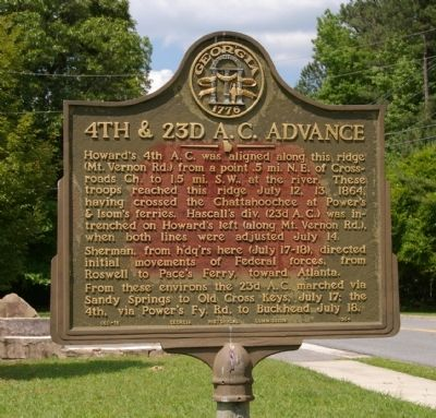 4th & 23d A.C. Advance Marker image. Click for full size.