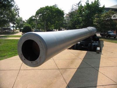 16-inch Gun Produced at the Navy Yard image. Click for full size.