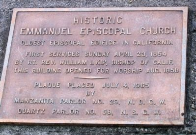 Historic Emmanuel Episcopal Church Marker image. Click for full size.