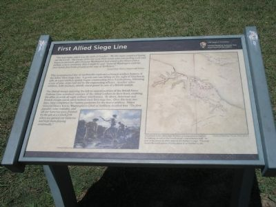 First Allied Siege Line Marker image. Click for full size.