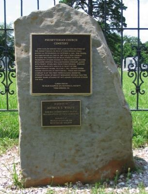 Presbyterian Church Cemetery Marker image. Click for full size.