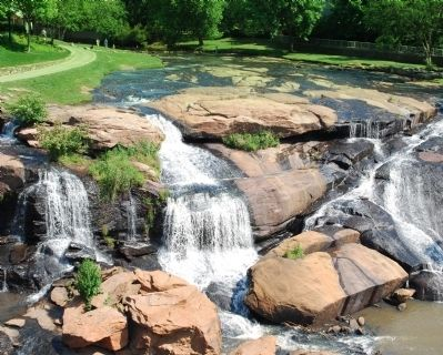 Reedy River Falls -<br>From the Liberty Bridge image. Click for full size.