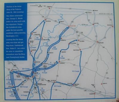 Gettysburg Campaign Map image. Click for full size.