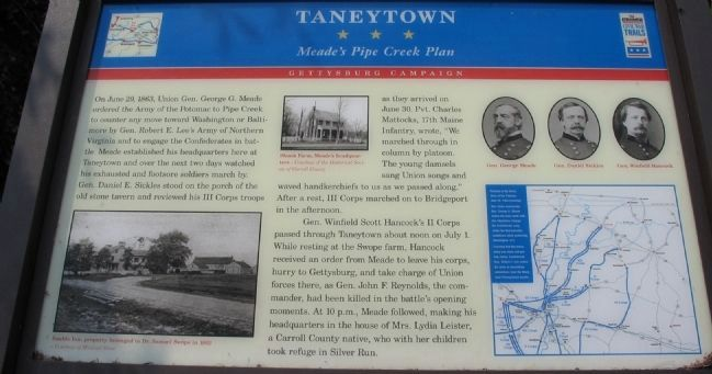 Taneytown Marker image. Click for full size.